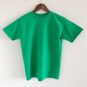 Fruit of the Loom 100% Cotton Green Tee L 10 / 12